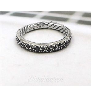 DAVID YURMAN Midnight Melange Black Diamond Ring 9